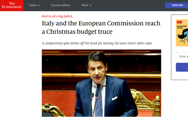 Italy promised the EU to lower its public deficit, but failed to meet this term at first. What measures did the EU take to force Italy to alter its budget plan?